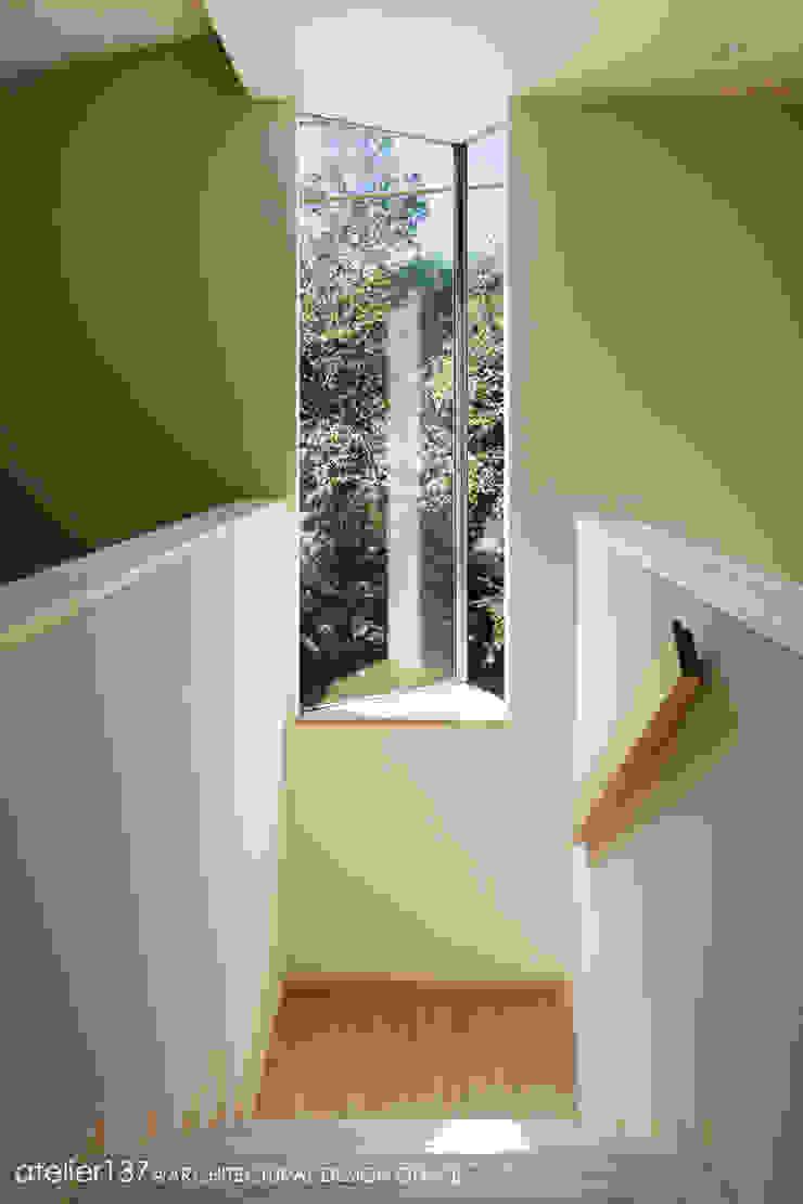 031軽井沢Tさんの家 モダンスタイルの 玄関&廊下&階段 の atelier137 ARCHITECTURAL DESIGN OFFICE モダン