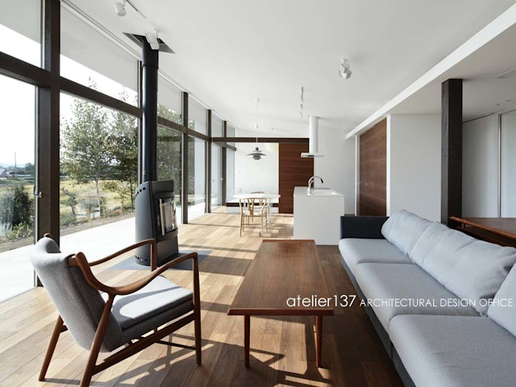 Living room by atelier137 ARCHITECTURAL DESIGN OFFICE, Modern Wood Wood effect