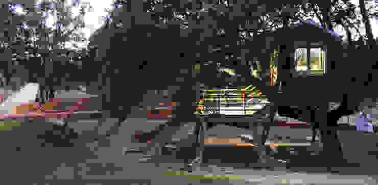 Casa en el árbol enraizada. Casas de estilo mediterráneo de Urbanarbolismo Mediterráneo