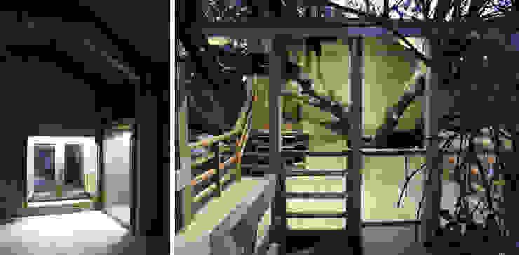 Casa en el árbol enraizada. Jardines de estilo rural de Urbanarbolismo Rural
