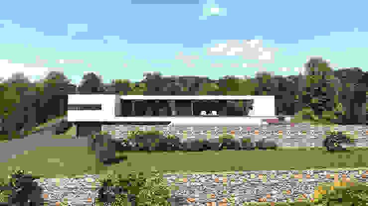 Maison contemporaine Aix-en-Provence 4 Maisons modernes par ARRIVETZ & BELLE Moderne