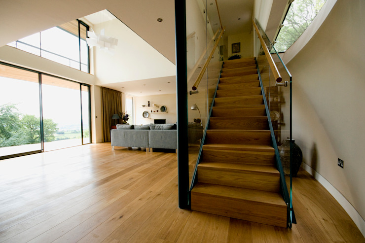 Blue Door, Monmouthshire Modern living room by Hall + Bednarczyk Architects Modern