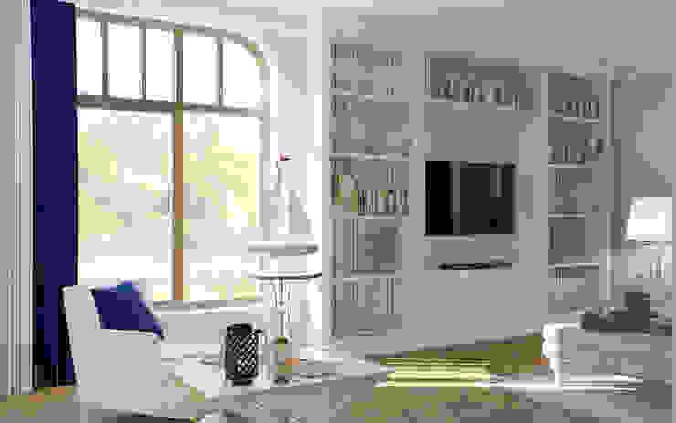 Samarina projects Salas de estilo minimalista
