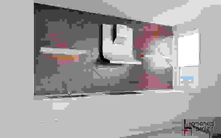 """Дизайн квартиры """"Уютная студенческая квартирка"""" Кухня в стиле минимализм от Samarina projects Минимализм"""