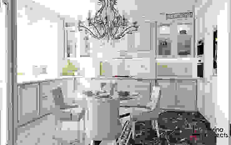 """Дизайн квартиры """"Невесомая красота"""" Кухня в классическом стиле от Samarina projects Классический"""