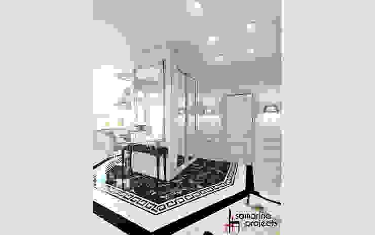 """Дизайн квартиры """"Невесомая красота"""" Коридор, прихожая и лестница в классическом стиле от Samarina projects Классический"""