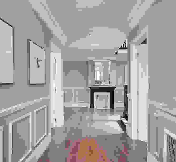 London Art de Vivre Corredores, halls e escadas ecléticos por Sophie Nguyen Architects Ltd Eclético