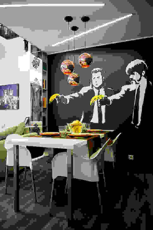 Вид на стол Столовая комната в эклектичном стиле от Дизайн-студия Екатерины Поповой Эклектичный