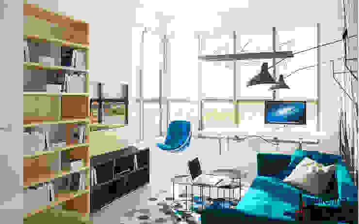 """Дизайн квартиры """"Сочные акценты"""" Детская комнатa в стиле минимализм от Samarina projects Минимализм"""