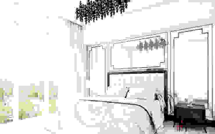 """Дизайн квартиры """"Белая роскошь"""" Спальня в классическом стиле от Samarina projects Классический"""