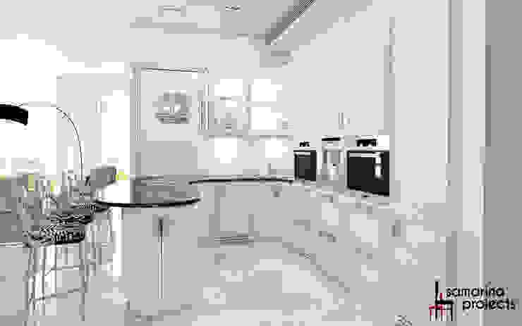 """Дизайн квартиры """"Белая роскошь"""" Кухня в классическом стиле от Samarina projects Классический"""