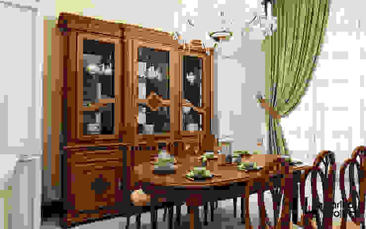 """Дизайн квартиры """"Легкая классика"""" Столовая комната в классическом стиле от Samarina projects Классический"""
