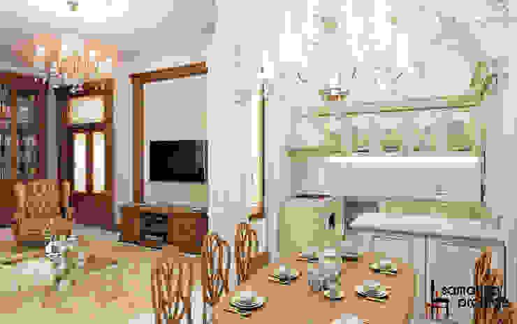 "Дизайн квартиры ""Легкая классика"" Кухня в классическом стиле от Samarina projects Классический"