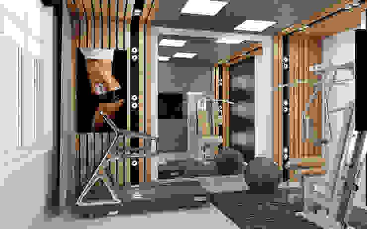 "Дизайн квартиры ""Гармония цвета"" Тренажерный зал в стиле минимализм от Samarina projects Минимализм"