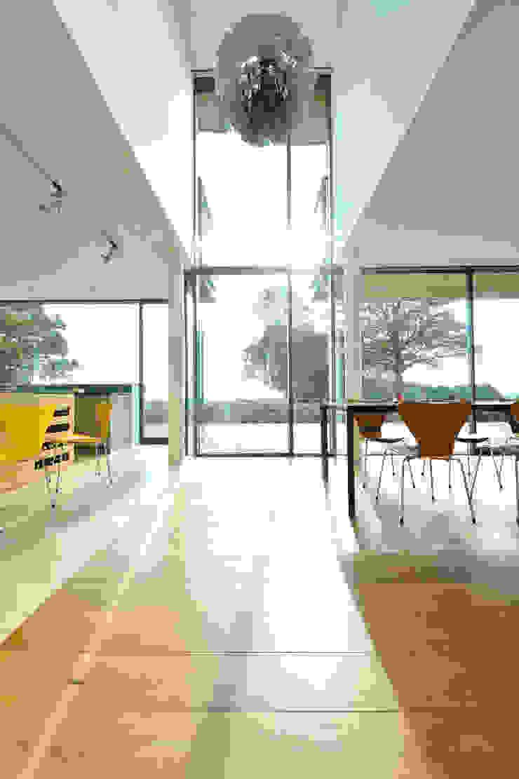 Carreg a Gwydr Nowoczesne okna i drzwi od Hall + Bednarczyk Architects Nowoczesny