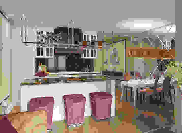 Двухкомнатная квартира. Застройщик Шелдом Кухни в эклектичном стиле от D+ | интерьерное бюро Эклектичный