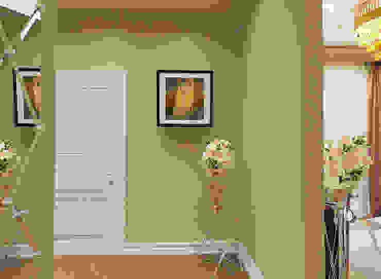 Двухкомнатная квартира. Застройщик Шелдом Коридор, прихожая и лестница в эклектичном стиле от D+   интерьерное бюро Эклектичный
