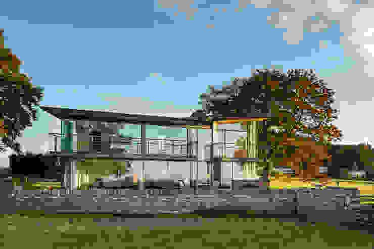 Carreg a Gwydr Hall + Bednarczyk Architects Rumah Modern