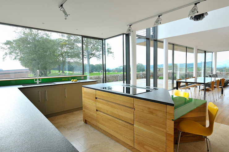 Carreg a Gwydr Hall + Bednarczyk Architects Modern kitchen