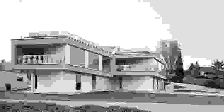Romulus & Remus; Doppeleinfamilienhaus in Baden Moderne Häuser von haefele schmid architekten ag Modern