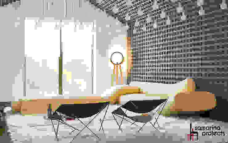 Salas multimédia minimalistas por Samarina projects Minimalista