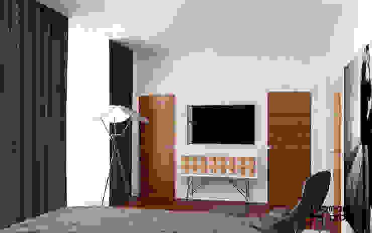 "Дизайн загородного дома ""Чистота стиля"" Спальня в стиле минимализм от Samarina projects Минимализм"