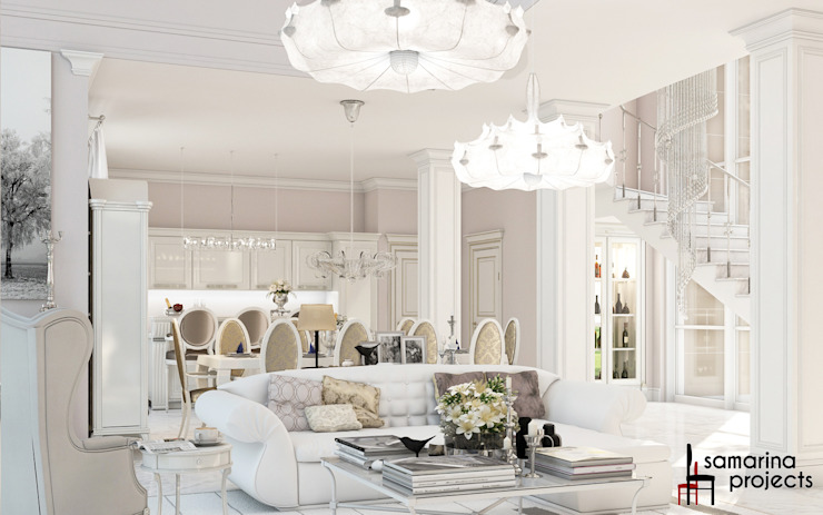 Living room by Samarina projects, Classic