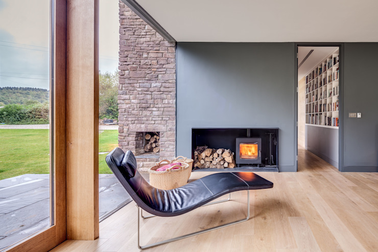 The Nook Hall + Bednarczyk Architects Modern living room