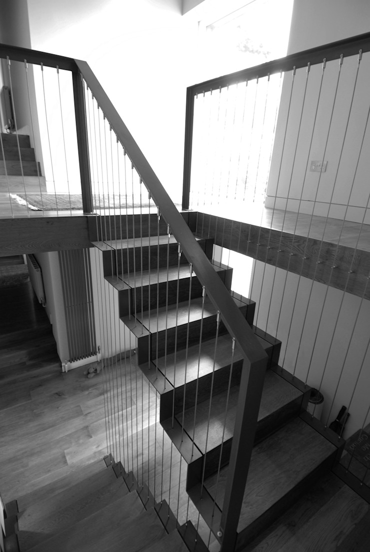 Valley Springs Hall + Bednarczyk Architects Modern corridor, hallway & stairs