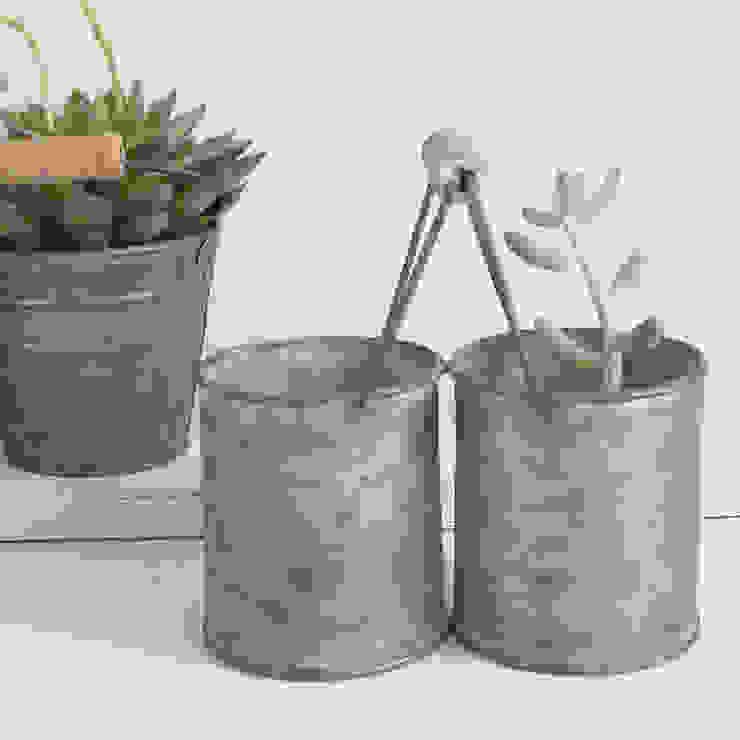 Zinc Mini Twin Pot With Handle de Lilac Coast Rural