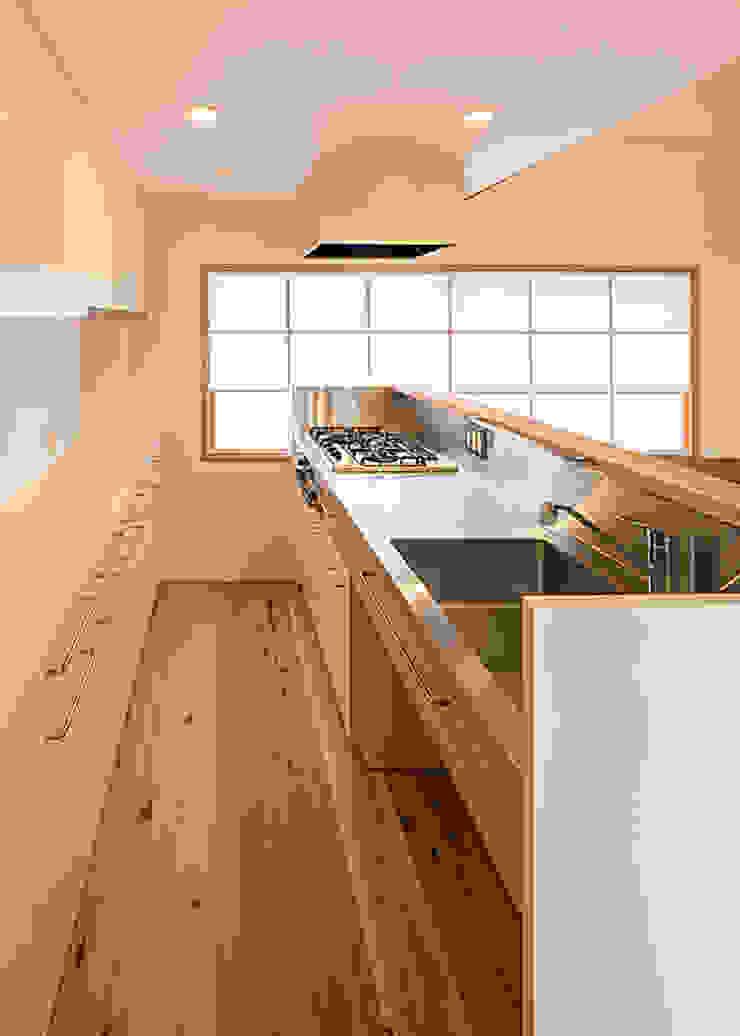 特注ステンレスキッチン 河合建築デザイン事務所 オリジナルデザインの キッチン