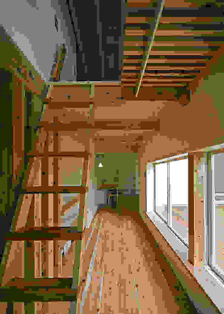 ロフト梯子 オリジナルスタイルの 玄関&廊下&階段 の 河合建築デザイン事務所 オリジナル