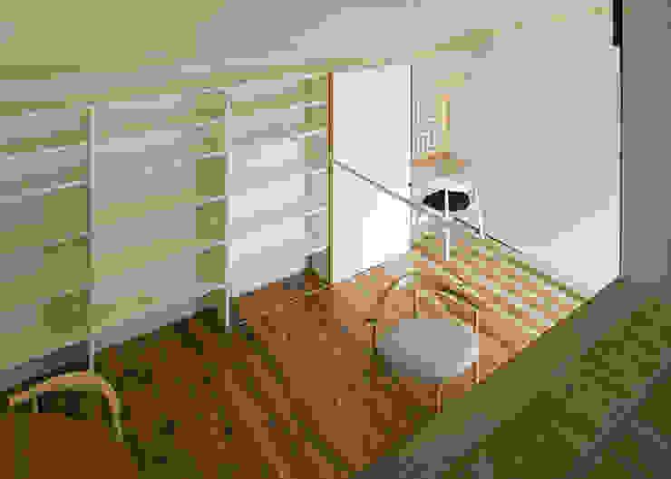 ロフトより広間を見る オリジナルデザインの 多目的室 の 河合建築デザイン事務所 オリジナル