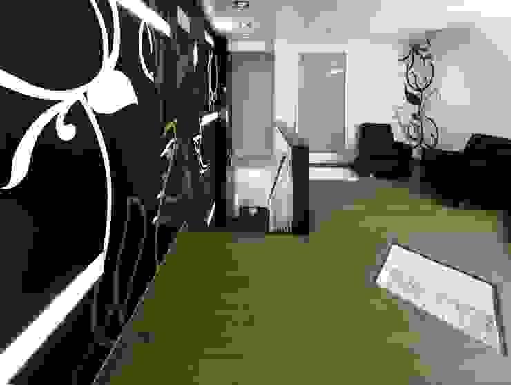 Couloir, entrée, escaliers minimalistes par Murales Divinos Minimaliste