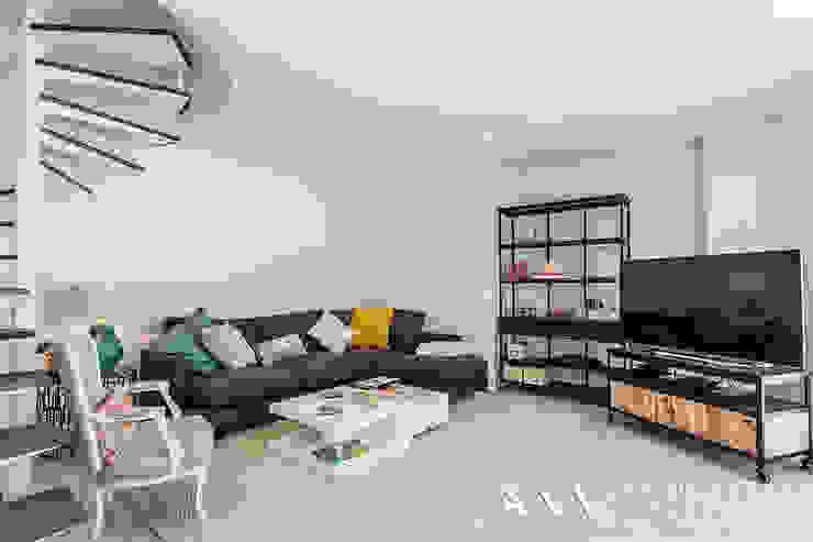 Гостиная в . Автор – Arquitectos Madrid 2.0