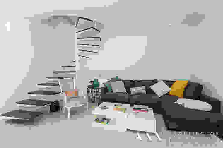 غرفة المعيشة تنفيذ Arquitectos Madrid 2.0, حداثي