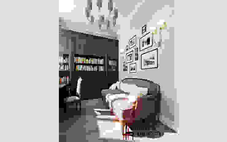 """Дизайн загородного дома """"Кабинет в английском стиле"""" Рабочий кабинет в классическом стиле от Samarina projects Классический"""