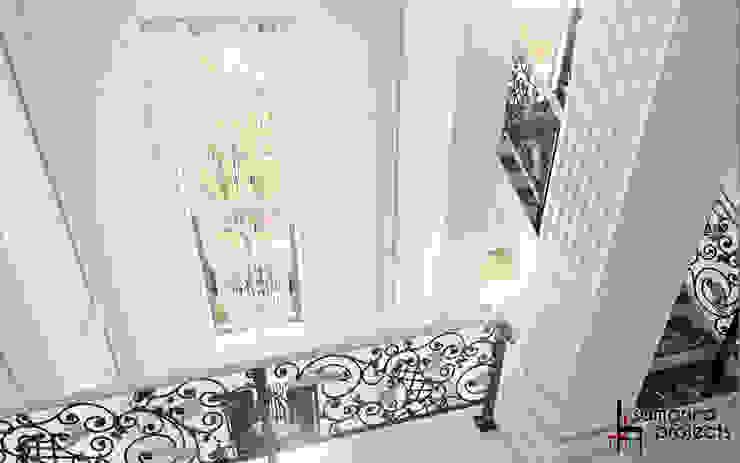 """Дизайн коттеджа """"Владение снежной королевы"""" Коридор, прихожая и лестница в классическом стиле от Samarina projects Классический"""