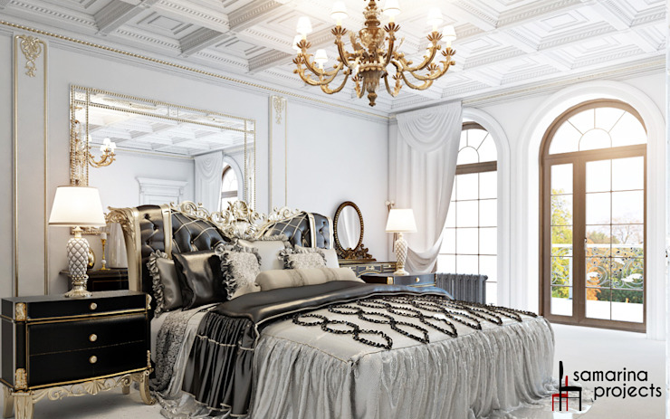 """Дизайн коттеджа """"Владение снежной королевы"""" Спальня в классическом стиле от Samarina projects Классический"""