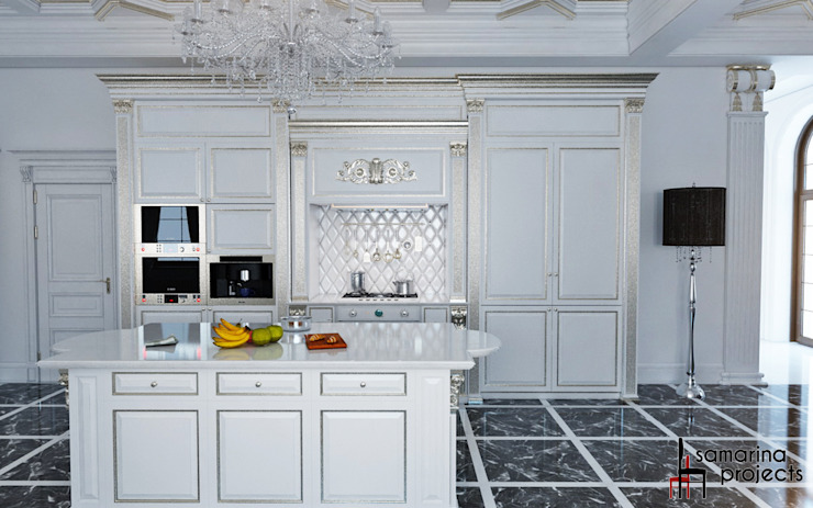 """Дизайн коттеджа """"Владение снежной королевы"""" Кухня в классическом стиле от Samarina projects Классический"""