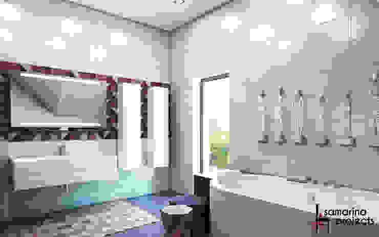 """Дизайн коттеджа """"В ритме загородной жизни"""" Ванная комната в стиле минимализм от Samarina projects Минимализм"""