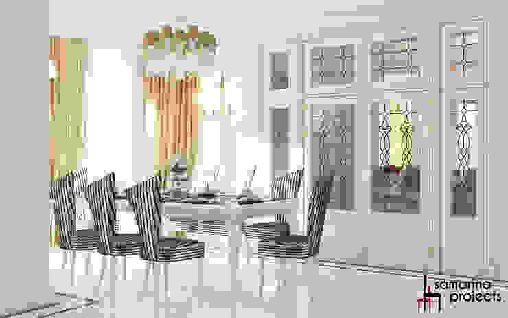 """Дизайн загородного дома """"Классический аквамарин"""" Столовая комната в классическом стиле от Samarina projects Классический"""