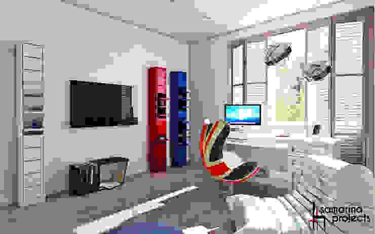 """Дизайн загородного дома """"Комната современного подростка"""" Детская комнатa в стиле минимализм от Samarina projects Минимализм"""