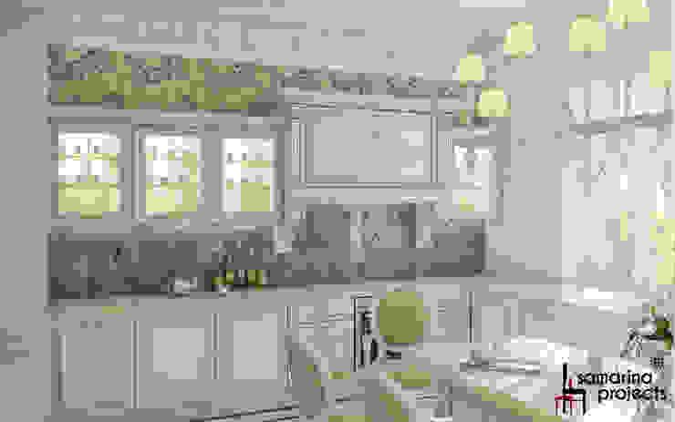 """Дизайн загородного дома """"Классический аквамарин"""" Кухня в классическом стиле от Samarina projects Классический"""