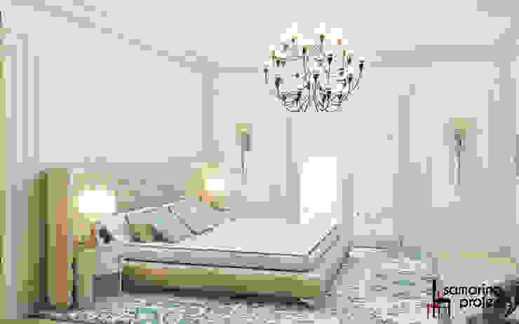 """Дизайн загородного дома """"Классический аквамарин"""" Спальня в классическом стиле от Samarina projects Классический"""