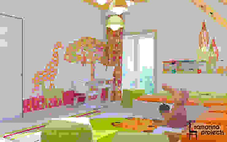 "Дизайн коттеджа ""В ритме загородной жизни"" Детская комнатa в стиле минимализм от Samarina projects Минимализм"