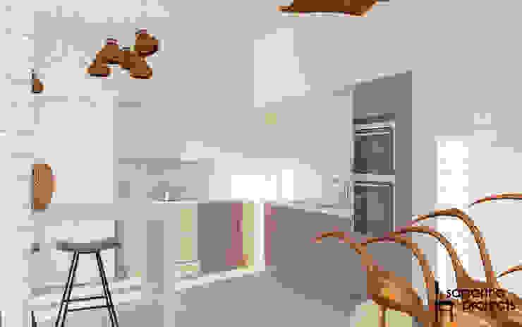 """Дизайн коттеджа """"В ритме загородной жизни"""" Кухня в стиле минимализм от Samarina projects Минимализм"""