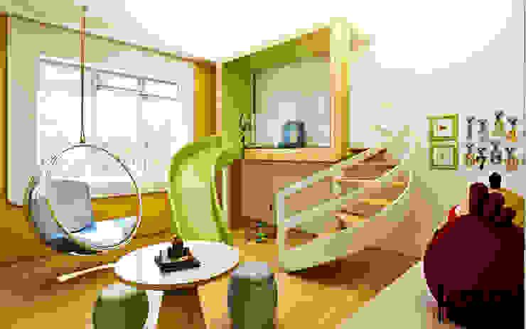 """Дизайн загородного дома """"Детская игровая"""" Детская комнатa в стиле минимализм от Samarina projects Минимализм"""