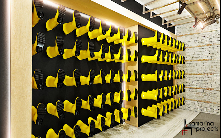 Дизайн бутика обуви для бездорожья от Samarina projects Лофт