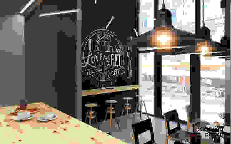 """Дизайн кофейни """"Настроение в каждой чашке"""" Бары и клубы в стиле минимализм от Samarina projects Минимализм"""